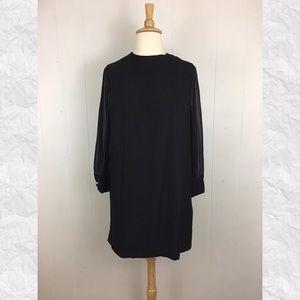 Vintage Toni Lynn Crew Neck Sheer Sleeve Mod Dress